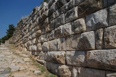 Massive ashlar masonry wall Stock Photography