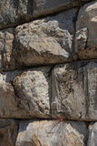 Massive ashlar masonry wall Stock Photo