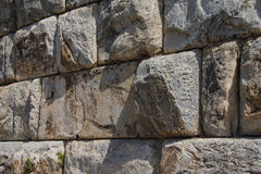 Massive ashlar masonry wall Royalty Free Stock Image