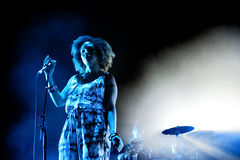Massive Attack (English musical group) performs at Sonar Festival Stock Photo