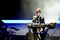 Massive Attack (English musical group) performs at Sonar Festival Royalty Free Stock Photo