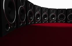 Massive Audio Wall Stock Image