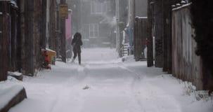 Massive blizzard hits the city.