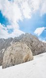Massive boulder on mountain slope Stock Photography