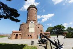 Massive building of the lighthouse in Kolobrzeg Stock Image