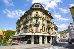 The massive building in Thun Stock Images