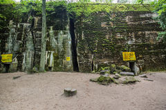 Massive bunker at Wolfsschanze. One of the bunkers at Wolfs Lair (Wolfsschanze), which served as Adolf Hitlers  World War II Eastern Front military headquarters Stock Images