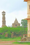 Massive Chittorgarh Fort and grounds rajasthan india Stock Photography