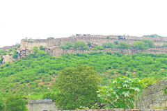 Massive Chittorgarh Fort and grounds rajasthan india Royalty Free Stock Image
