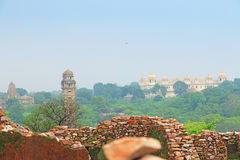 Massive Chittorgarh Fort and grounds rajasthan india Royalty Free Stock Photo