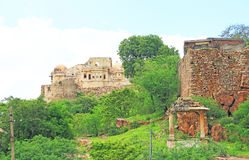 Massive Chittorgarh Fort rajasthan india Stock Image