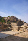 Massive citadel ruins of the  Golconda Fort Royalty Free Stock Images