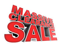 Massive Clearance Sale Royalty Free Stock Photo