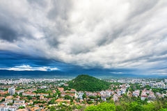 Massive Clouds Over Plovdiv City Royalty Free Stock Image