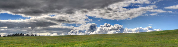 Massive clouds panorama Stock Photography