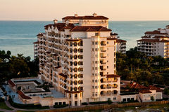 Massive Coastal Condo at Sunrise Stock Image