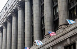 Massive Columns on Chicago Building Royalty Free Stock Photos