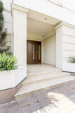 Massive colums to support luxurious house entrance Stock Images