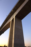 Massive Concrete Bridge support royalty free stock photography