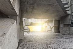 Massive concrete chunks stock photos