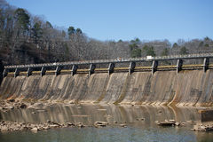 Massive Concrete Hydroelectric Dam Royalty Free Stock Photos
