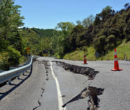 Massive Cracks in The Hunderlee Hills after Kaikoura Earthquake Royalty Free Stock Images