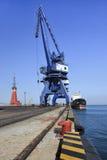 Massive crane in Port of Dalian Stock Photos