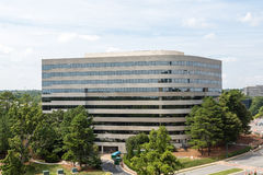 Massive Curved Concrete Building royalty free stock photo