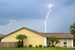 Massive daytime lightning strike Royalty Free Stock Photos