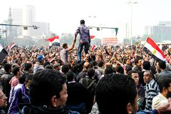 Massive demonstration,Cairo, Egypt Stock Photos