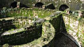 Massive Dungeon in Crumbling Ruin Stock Photos
