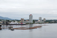 Massive Ferry in Nanaimo. Canada Stock Image