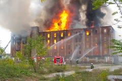 Massive fire Stock Image