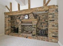 Massive fireplace Stock Photo