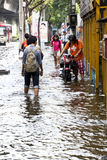 Massive flooding in Bangkok. Thailand Stock Images