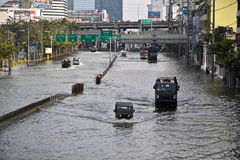 Massive flooding in Bangkok. Thailand Royalty Free Stock Image