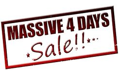 Massive four days sale. Rubber stamp with text massive four days sale inside,  illustration Royalty Free Stock Image