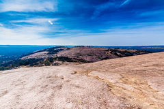 Massive Granite Formations of Enchanted Rock, Texas. Stock Photography