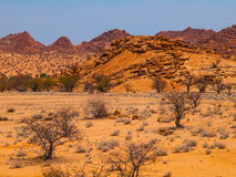 Massive granite rock formations in namibian Royalty Free Stock Photo