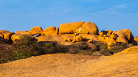 Massive granite rock formations in namibian Stock Images