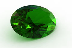 Massive Green Oval Emerald - Photorealistic Render Stock Photos
