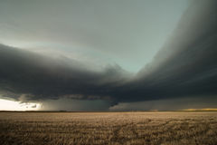 A massive high precipitation supercell thunderstorm in eastern Colorado. A massive high precipitation supercell thunderstorm gathers strength in eastern stock photography