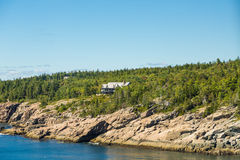 Massive Home on Coast of Maine Stock Images