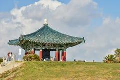 December 27, 2018 San Pedro, Ca. Korean Bell of Friendship and Bell Pavilion stock image