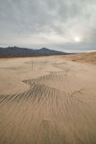 Massive Kelso Sand Dunes in Mojave National Preserve, California on a Cloudy Day Stock Photos