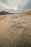 Massive Kelso Sand Dunes in Mojave National Preserve, California on a Cloudy Day Royalty Free Stock Photography