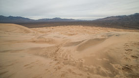 Massive Kelso Sand Dunes in Mojave National Preserve, California on a Cloudy Day Royalty Free Stock Images
