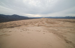 Massive Kelso Sand Dunes in Mojave National Preserve, California on a Cloudy Day Stock Photo