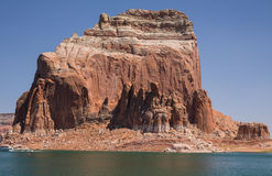 Massive Lake Powell Cliffs and Mittens Stock Photography