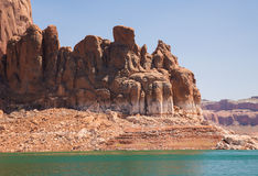Massive Lake Powell Cliffs and Mittens Stock Images